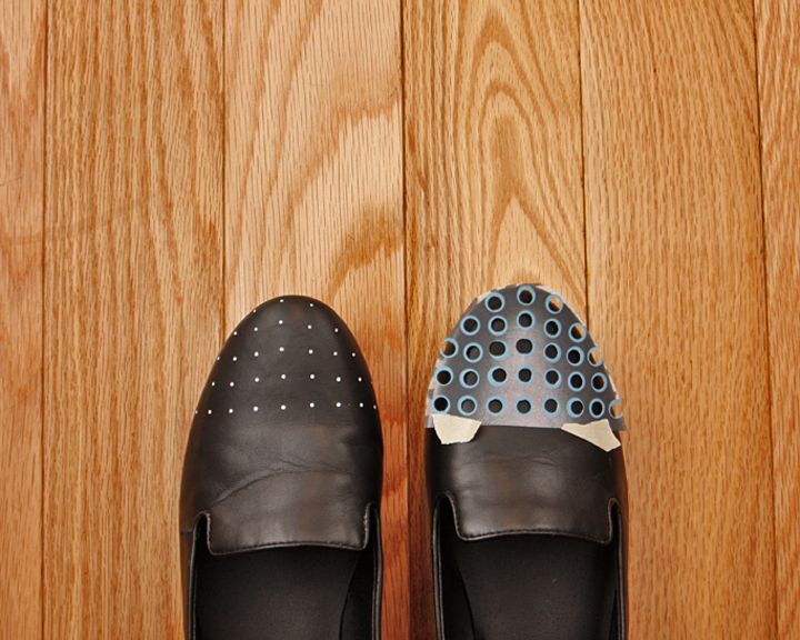 Diy_studded_loafers_step1