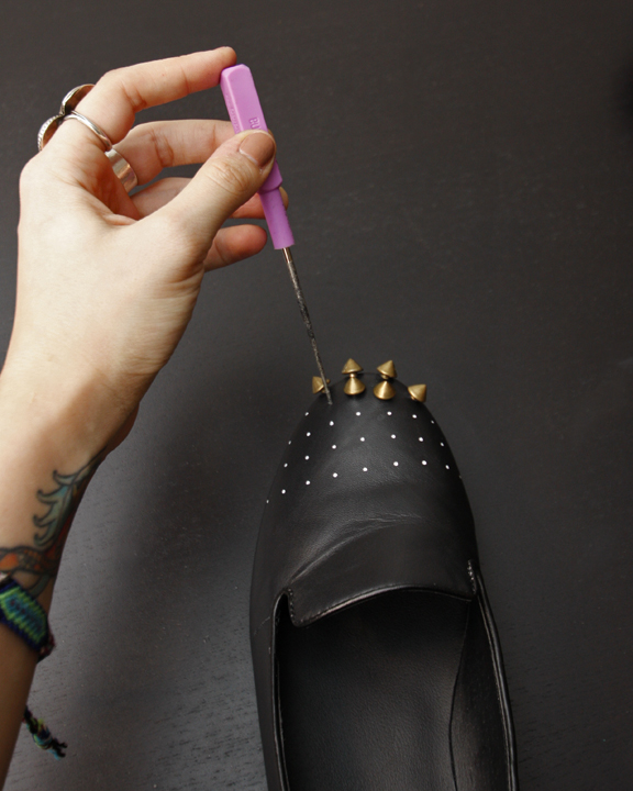 Diy_studded_loafers_step3