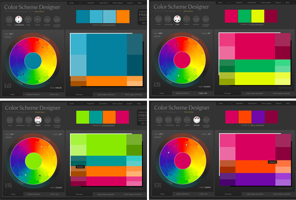 color scheme designer - Song & Dance